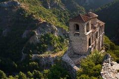 High mountain castle church stock photo
