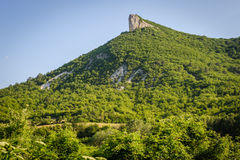 High mountain cliff in Crimea Royalty Free Stock Photography