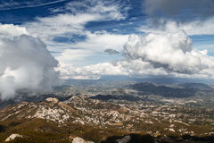 High mountain at cloudy daytime. Beautiful nature landscape Stock Photography