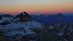 High mountain Dents du Midi at sunrise Royalty Free Stock Image