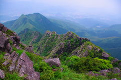 High mountain with great rock at south china Stock Photos
