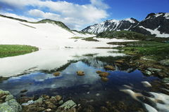 High mountain lake Stock Photography