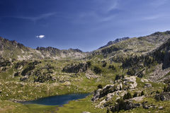 High mountain lake. In the Pyrenees, Spain royalty free stock images