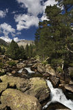 High mountain lake. High mountain river in the Pyrenees, Spain royalty free stock photo