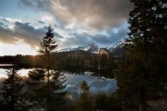 High mountain lake Stock Image