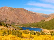 High mountain lake. Deep blue mountain lake in Yosemite high country Stock Photography