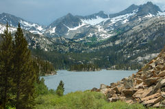 High Mountain Lake. An alpine lake in the Eastern Sierra Nevada Mountains Stock Photography