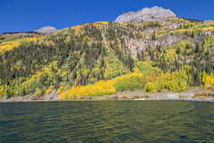 High Mountain Lake in Autumn Royalty Free Stock Image