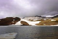 High mountain lake Kari, Aragats, Armenia. Royalty Free Stock Photography