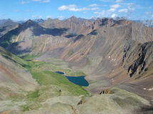 High mountain and lake Stock Image