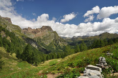 High Mountain landscape. In the Alps, Alpe Devero, Italy Stock Photos