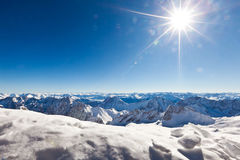 High mountain landscape. With sun Stock Images