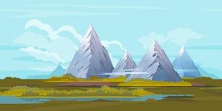 High Mountain Landscape Background Stock Photos