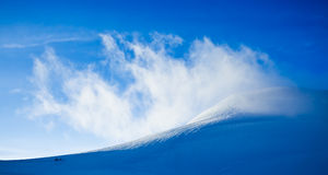 High mountain landscape: glaciers and clouds Royalty Free Stock Photos