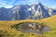 High mountain landscape with Tooth of the Giant Stock Photo