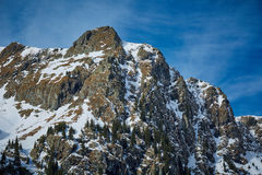 High mountain landscape on winter Stock Image