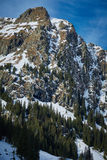 High mountain landscape on winter Royalty Free Stock Images