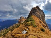 High carpatian mountain landskape. High mountain landskape of Ciucas mountains Stock Photography