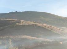 High mountain with light fog. Stock Photos