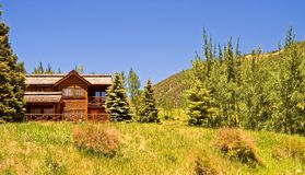 High Mountain Lodge royalty free stock images