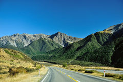 High mountain in New Zealand. With blue sky stock photography