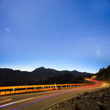 High mountain night view Stock Photos