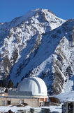 High mountain observatory (franment 3). High mountain observatory in winter (franment 3 Royalty Free Stock Images