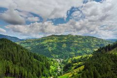 Free High Mountain Panorama Drone Fly Above The Mountains In Summer. Aerial View Above In The Carpathian Mountains And Meadows Stock Images - 156787644
