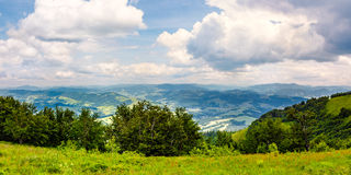 High mountain panorama view stock images