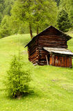 High mountain pasture. Italy - Trentino Alto Adige - San Martino in Badia (Sankt Martin in Thurn in German, San Martin de Tor in Ladino) is an Italian town of 1 stock photo