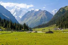 High mountain peak in Kyrgyzstan Stock Photos