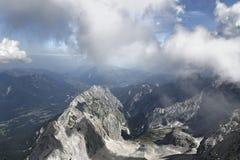 High mountain peaks Stock Photography
