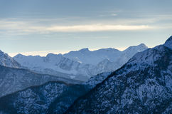 High mountain peaks. In the Dolomites Royalty Free Stock Photos