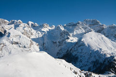 High mountain peaks with snow Stock Photography