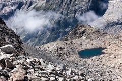 High mountain pond Stock Image