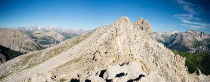 High mountain range Stock Photo