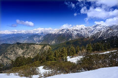 High mountain ranges in the Himalayas Royalty Free Stock Image