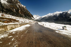 High mountain road Royalty Free Stock Photo
