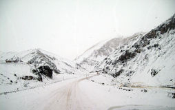High mountain roads in the Andes royalty free stock photos