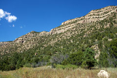 High Mountain Rock Cliffs in New Mexico royalty free stock photo