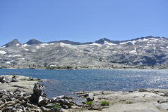 High mountain sierra lake Royalty Free Stock Image