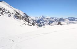 High mountain ski resort Stock Image
