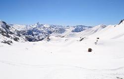 High mountain ski resort Stock Photography