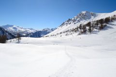 High mountain ski resort Stock Photos