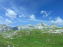 High mountain sky dolomiten italy Royalty Free Stock Photography