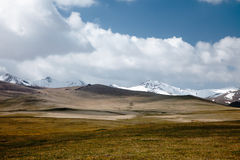 High mountain Son Kul lake valley. In early summer time, Kyrgyzstan Royalty Free Stock Image