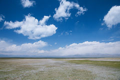 High mountain Son Kul lake valley in early summer time, Kyrgyzst Royalty Free Stock Photography