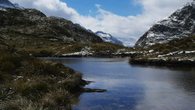 High mountain tarn on Milford Track NZ Royalty Free Stock Photos