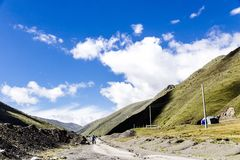 high mountain in tibetan Royalty Free Stock Images