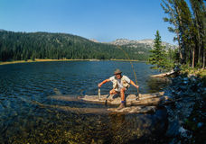 High Mountain Trout Fishing Royalty Free Stock Photo